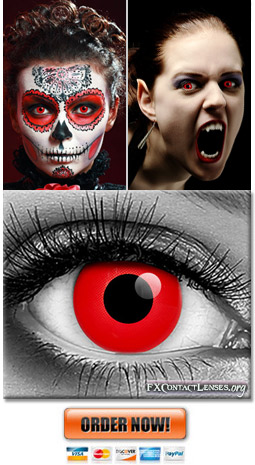 Red Vampire Contact Lenses
