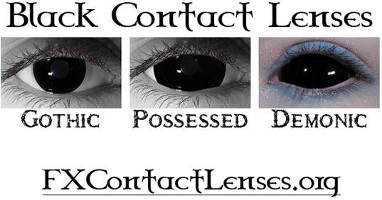 Black Sclera Red Iris Contacts Black Contact Lenses