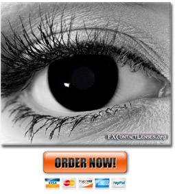 Black Goth Contact Lenses