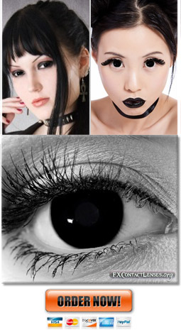 Black Gothic Metal Contact Lenses
