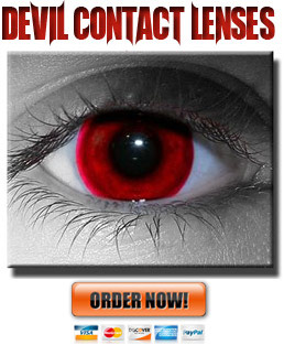 Blood Red Devil Contact Lenses