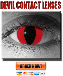 Cat-Eye Red Devil Contact Lenses