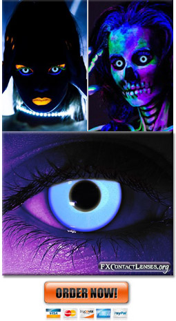 Glow In The Dark Contacts | Rave Contact Lenses
