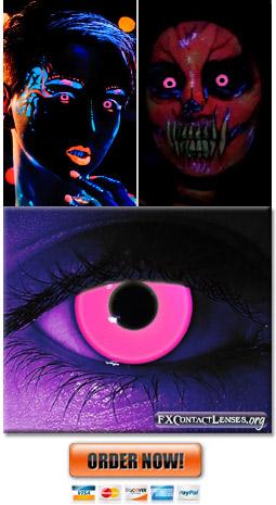 Glow Pink Contact Lenses
