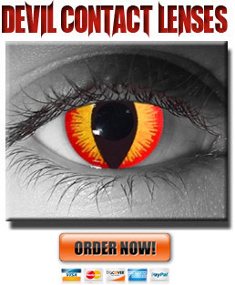 Red/Yellow Devil Contact Lenses