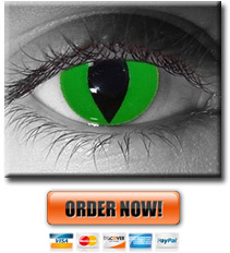Green Cat Eye Contacts