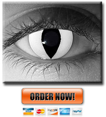 White Cat Eye Contacts