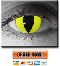 Yellow Cat Eye Contacts