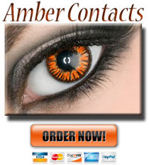 Amber Colored ColorMax Contact lenses
