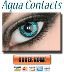 Aqua Colored Contacts