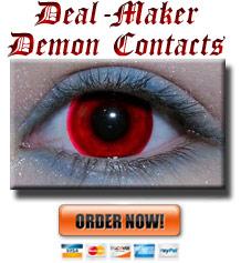 Deal Maker Demon Contact Lenses