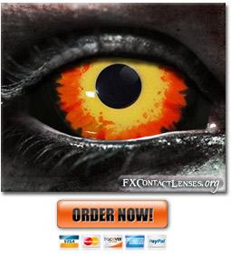 Cerberus Custom SFX Sclera Contact Lenses