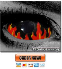 Flames Custom SFX Sclera Contact Lenses