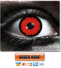 Scary Red Angelic Contact Lenses