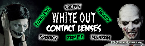 White Out Contact Lenses