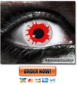 Blood Splatter Zombie Contact Lenses