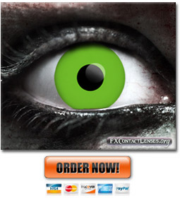 Green Zombie Contact Lenses