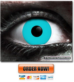 Blue Zombie Contact Lenses