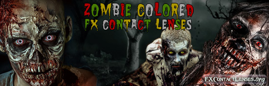 Zombie Colored Contact Lenses