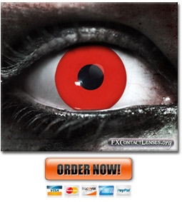 Red Zombie Contact Lenses