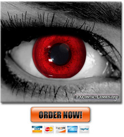 Blood Red Newborn Custom SFX Contact Lenses