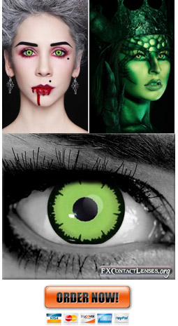 Green Dark Angelic FX Contact Lenses