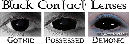 black fx contact lenses