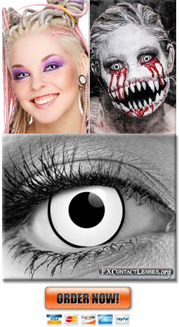 White Contact Lenses Blind Eye Frosty Movie Contacts
