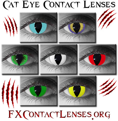 Cat Eye Contacts Yellow Green Red Blue