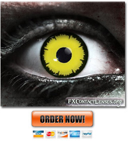 Scary Angelic Yellow Contact Lenses